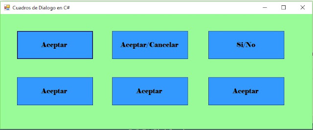 Cuadros de Dialogo MessageBox en C# (C Sharp)