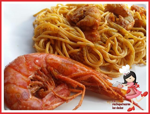 *espaguetis Con Gambones Al Pimentón (olla Gm-e)