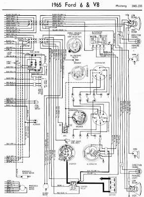 ford 6 and v8 mustang 1965 complete wiring diagram all. Black Bedroom Furniture Sets. Home Design Ideas