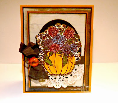 Stamps - Our Daily Bread Designs Fall Flower Pumpkin, ODBD Custom Pumpkin & Flowers Die
