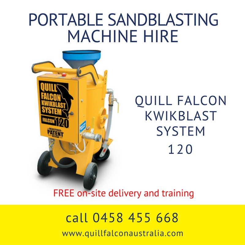 Quill Falcon Kwikblast Dustless Blasting Machine Falcon 120