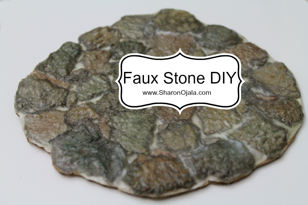Homemade obsessions stone floor natural and color diy for Diy stone floor