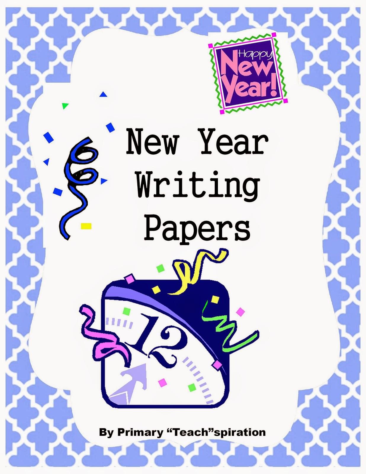 A New Year Writing Freebie