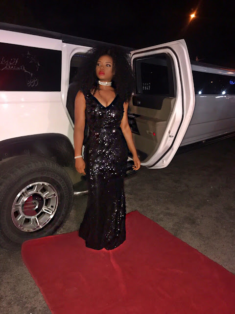 Yemi Alade dazzles in black for her birthday dinner