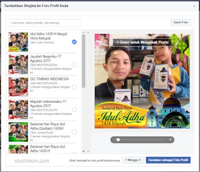 Bingkai Foto Idul Adha 2018 dengan Frame unik untuk Profil Facebook