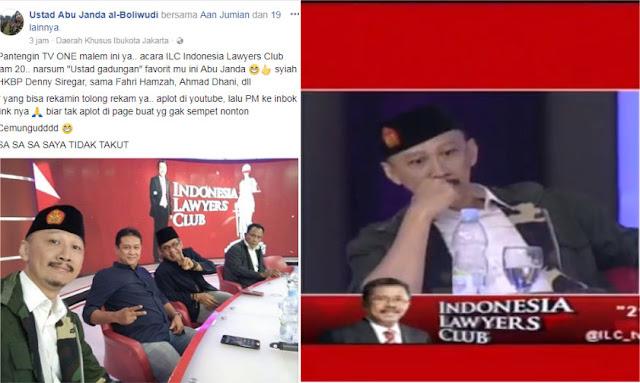 Abu Janda di Facebook: Saya Tidak Takut! Begitu Tampil di ILC, Ternyata Begini
