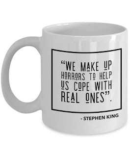 Stephen King We Make Up Horrors Coffee Mug, Stephen King Coffee Mugs, Stephen King Store
