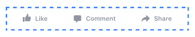 Update to Like, Comment, and Share Functionality