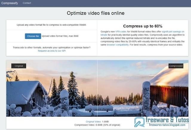 Compressify : un service en ligne pour compresser les vidéos