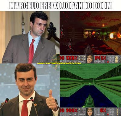 Marcelo Freixo jogando Doom