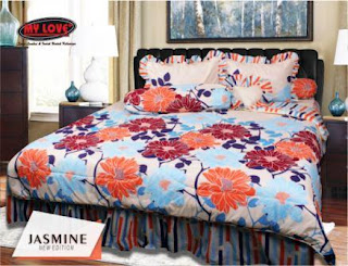 Sprei dan bed cover my love motif Jasmine