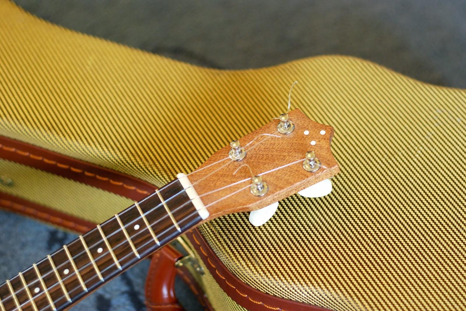 John Daniel Pixie Sopranino ukulele headstock