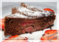 gateau sans gluten chocolat fraise