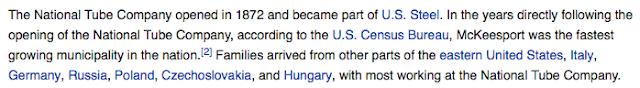 wikipedia snippet mckeesport pa