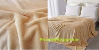 Logo Coperta poliestere/vello sconto del 80% a soli 4,00€ fino ad esaurimento (autunnale per letto, divano)