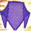 3 patrones chales crochet
