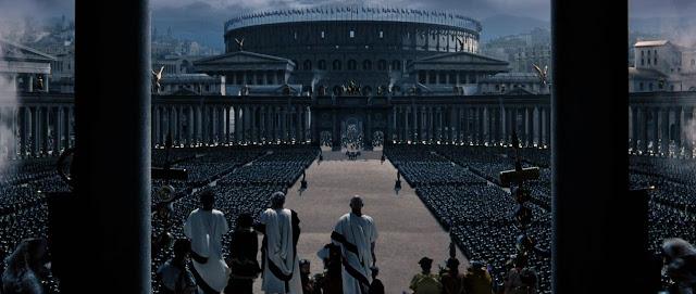 Roma recreada para la ocasión en una escena de Gladiator
