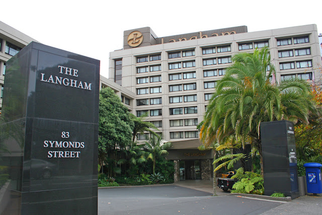 Entrance to the Langham Hotel, Auckland, New Zealand