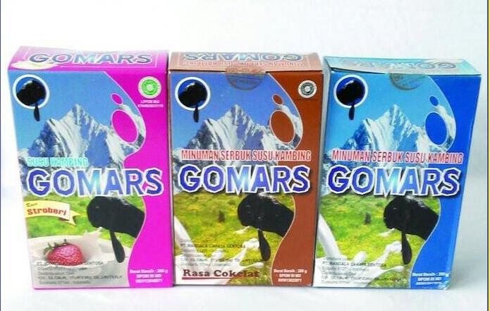 Susu Bubuk Kambing Etawa Gomars Tersedia 4 macam varian rasa.