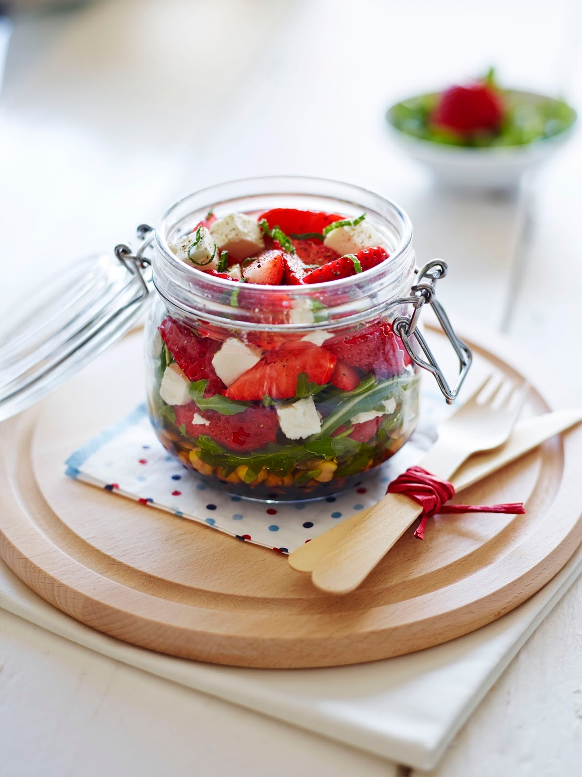 BerryWorld Strawberry Kilner Jar Salad