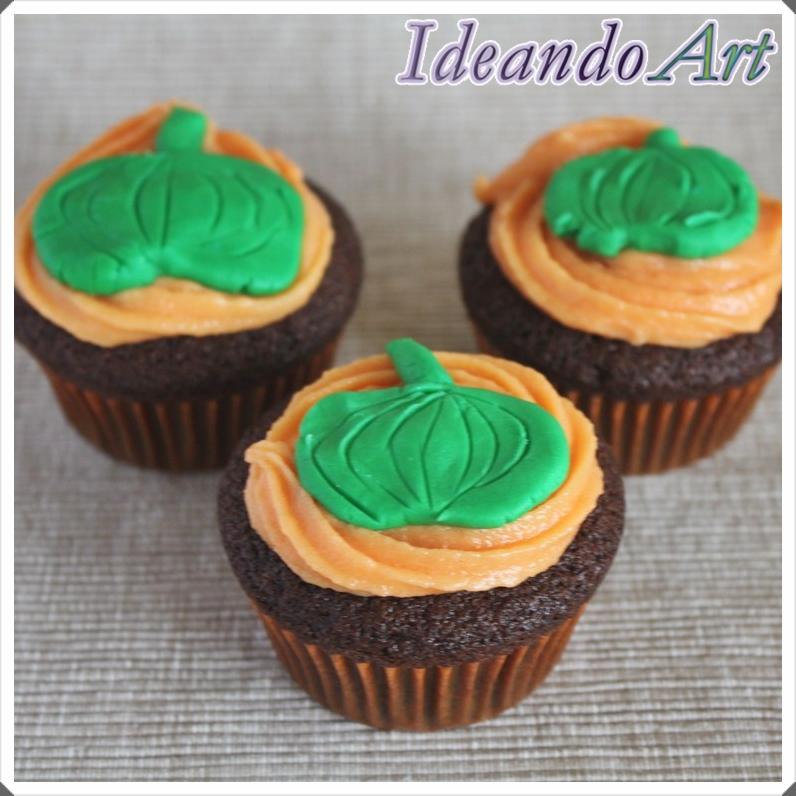 Cupcakes calabazas Halloween