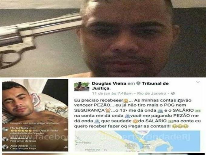 Atraso de salário: Um PM do Rio transmite o suicídio ao vivo no Face; Pezão culpado?