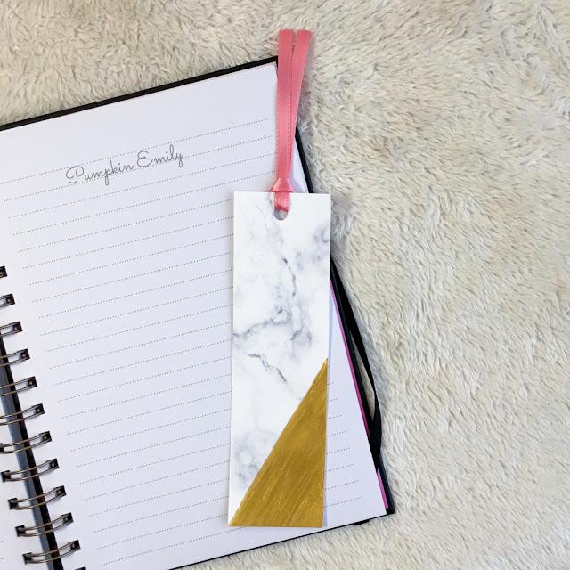 DIY Marble Bookmark