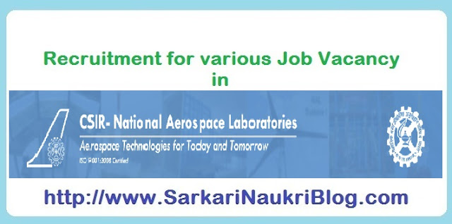 Naukri Recruitment in CSIR NAL
