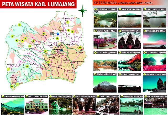 Gambar Peta Wisata Kabupaten Lumajang Lengkap