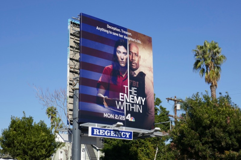 Enemy Within NBC series billboard