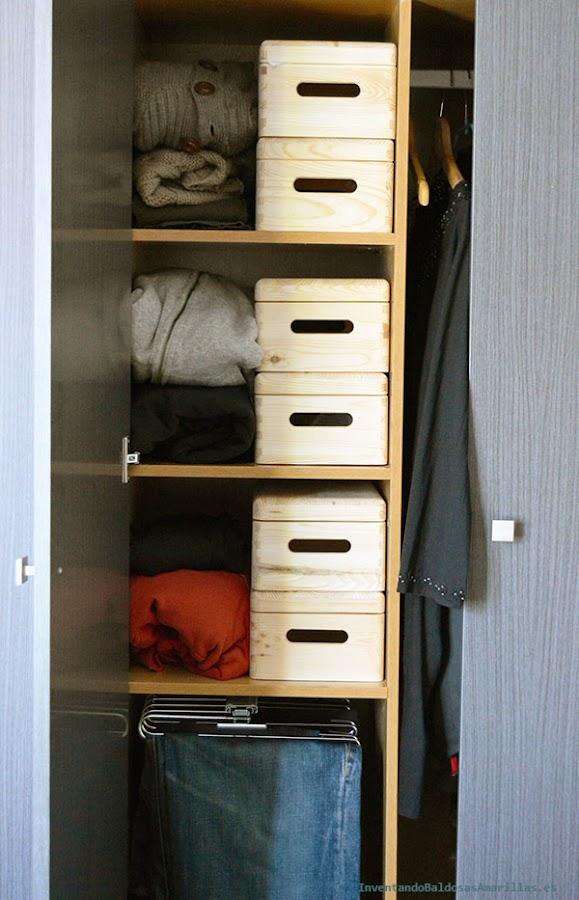 Ordenación en el armario