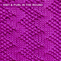 Zigzag Seed - knitting in the round