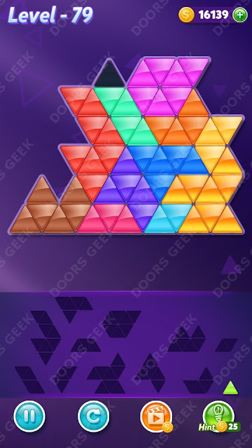 Block! Triangle Puzzle 12 Mania Level 79 Solution, Cheats, Walkthrough for Android, iPhone, iPad and iPod