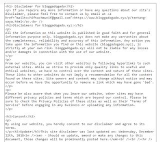 Cara Membuat Diclaimer blog dengan privacypolicyonline.com