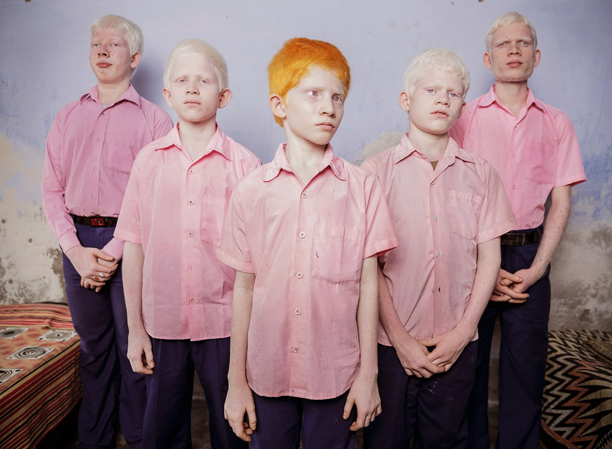 BLIND ALBINO BOYS IN THEIR BOARDING ROOM AT A MISSION SCHOOL FOR THE BLIND IN WEST BENGAL, INDIA, 2013 - 29 Breathtaking Photographs of The Human Race