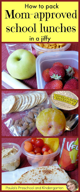 How to pack mom-approved school lunches in a jiffy, by Paula's Preschool and Kindergarten
