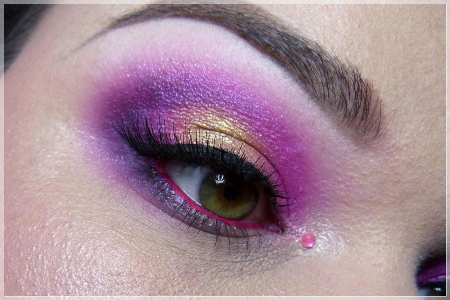 pink goldenes Augenmakeup
