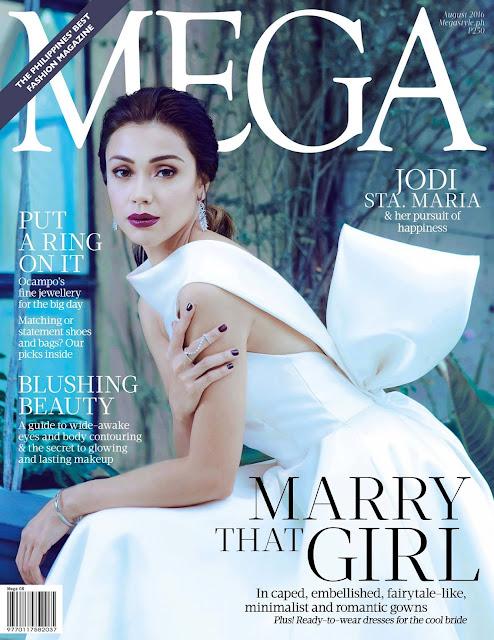 Jodi Sta. Maria MEGA August 2016 Cover