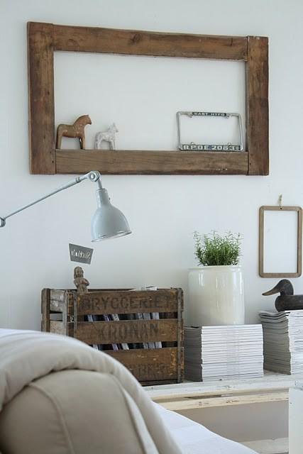 Idee riciclo il legno blog di arredamento e interni - Cornice dei mobili ...