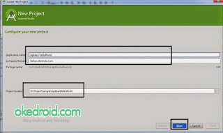 Configure New Project Android Studio