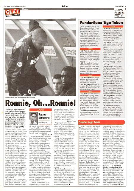 RONNIE INTERNAZIONALE MILANO 2001