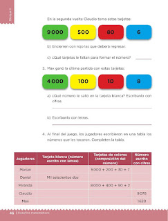 Apoyo Primaria Desafíos matemáticos 3ro. Grado Bloque II Lección 20 Baraja numérica
