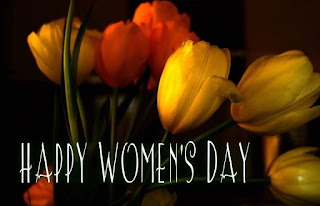 happy women's day images with flower