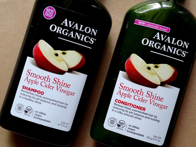 Avalon Organics Smooth Shine Apple Cider Shampoo and Conditioner