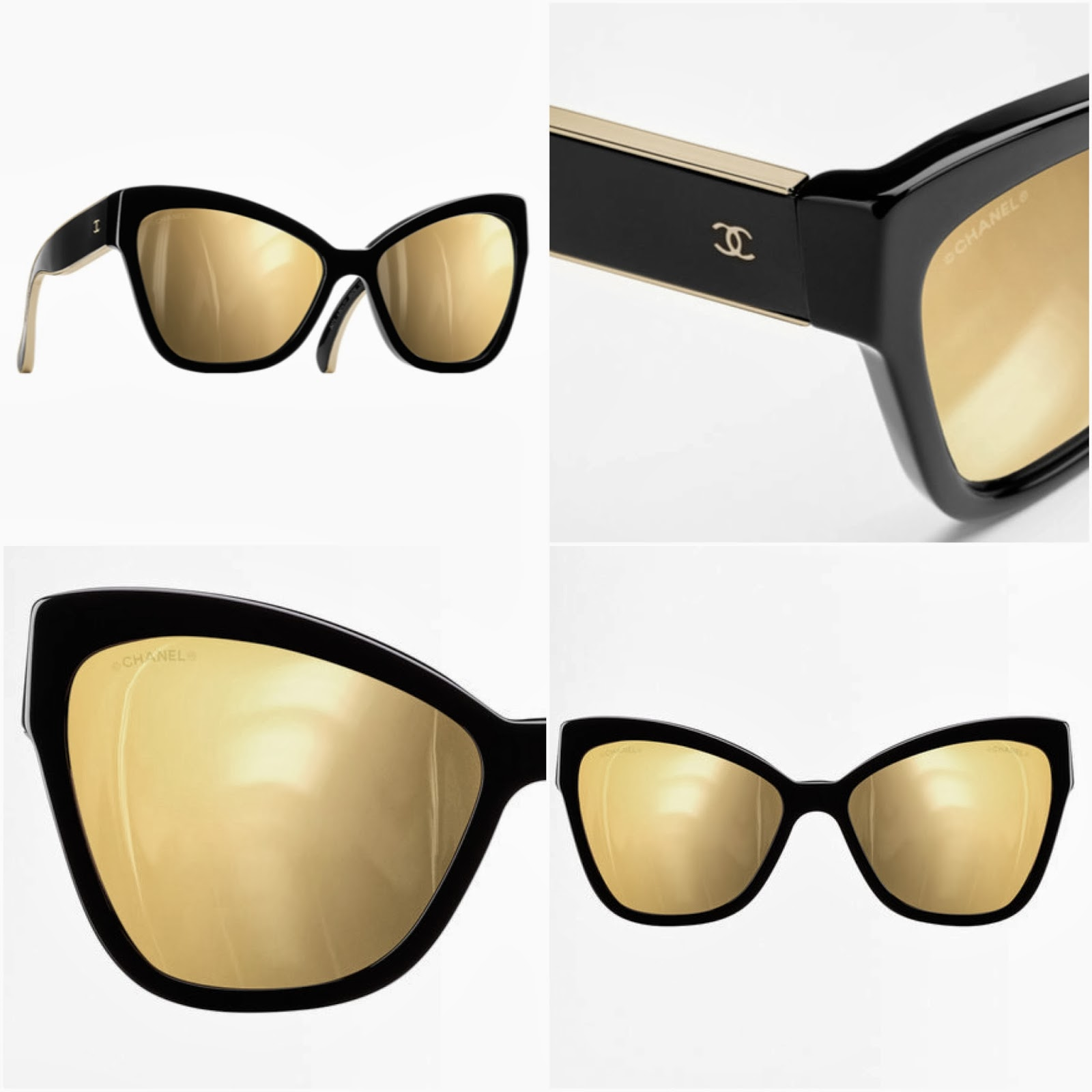 Inspires Mi In Mind Chanel Cat Eye Sunglasses Gold