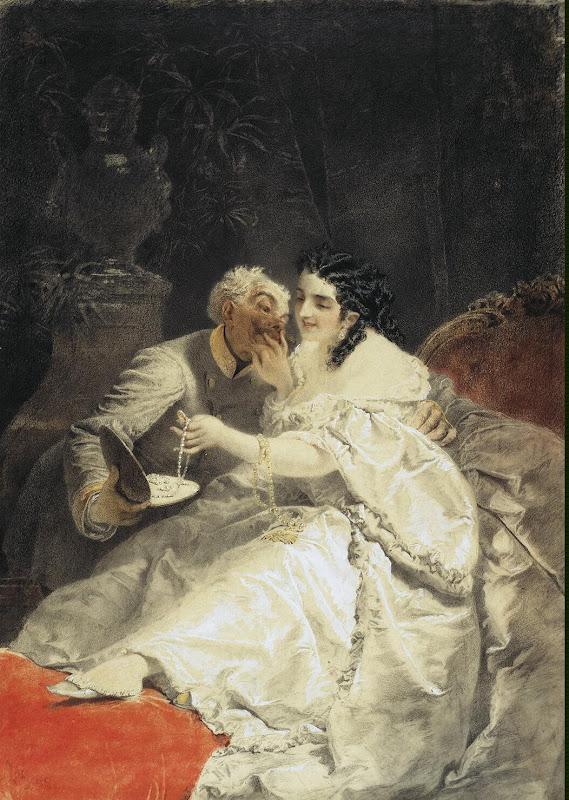 Любовь в продаже от Михаила Зичи - Жанровые картины из Эрмитажа