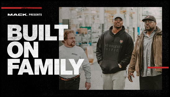 "The latest episode of Mack Trucks' RoadLife series, ""Built on Family,"" highlights the men and women who build Mack trucks – and two men who proudly bear the Mack name. Oakland Raiders NFL All-Pro defender Khalil Mack and his father Sandy visit the Mack production plant in Macungie, Pennsylvania and see how family is a part of every Mack truck that rolls off the line."