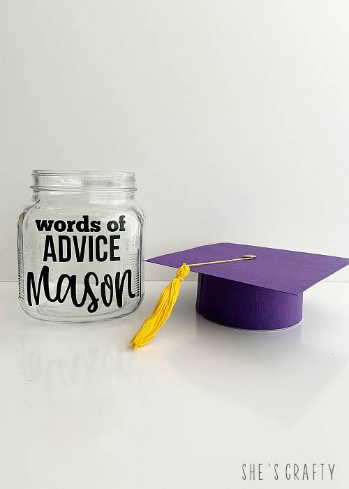 DIY instructions for making a graduation advice jar