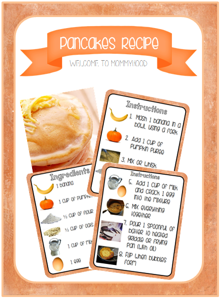 Healthy Recipes: Pumpkin Pancakes kids can make independently with free recipe printable #montessori, #healthyrecipes, #healthybreakfastrecipes, #kidsrecipes, #kidscooking